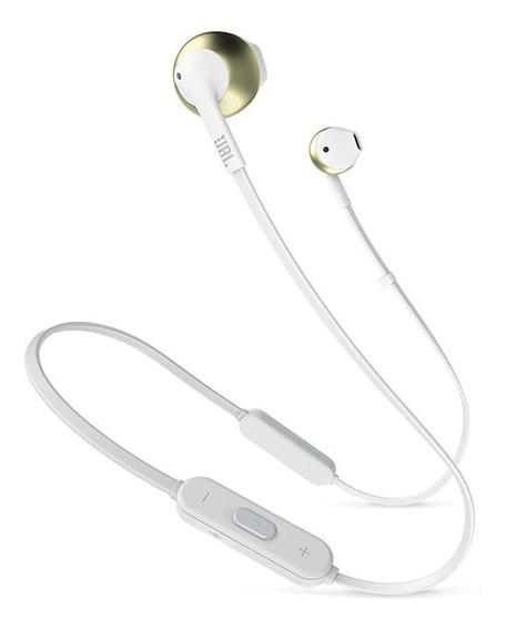 Fone De Ouvido Bluetooth Preto Ou Dourado Jblt205 Bt In Ear