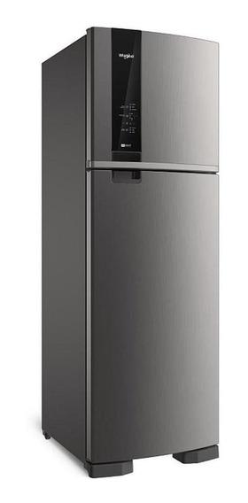 Heladera no frost Whirlpool WRM54A inox con freezer 400L 220V