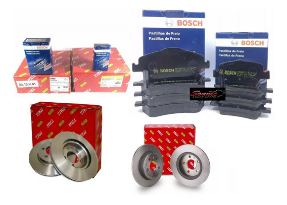 Disco E Pastilha Dianteiro Traseiro Corolla 2012 Trw Bosch
