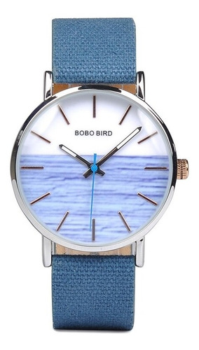 Relógio Unissex Aço Inox Q163 Analógico Bobo Bird