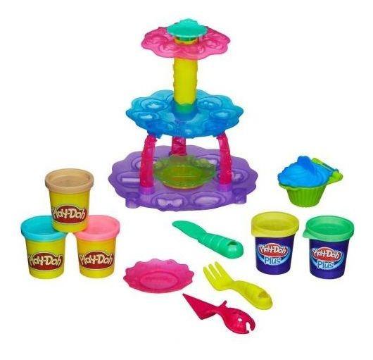 Massinha Play-doh Torre De Cupcake Hasbro - Amarelo