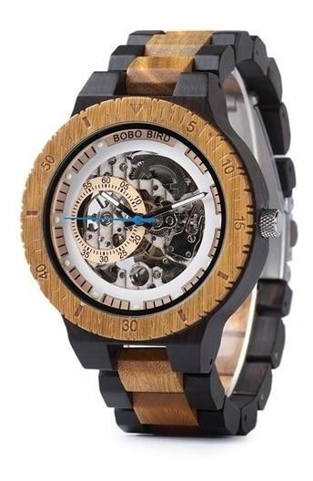 Reloj Bobo Bird Madera Bambú Maquinaria Steampunk J-r05