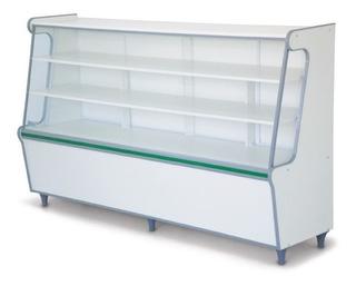 Balcão Expositor De Produtos 1,80m Seco C/ Vidro Frontal