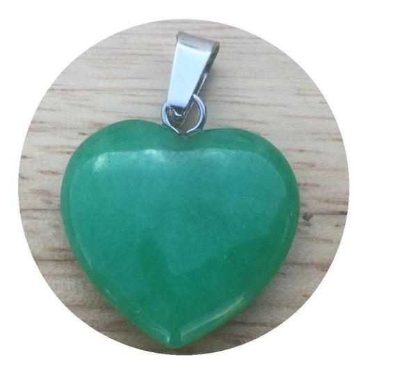 Corazón Jade Malasio Dije Unisex Moda Trendy Tamaño 2cmx2cm