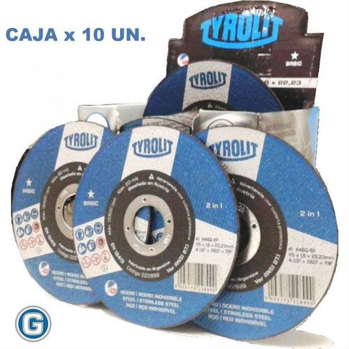 Disco Desbaste Tyrolit Basic 114 X 6 Mm Caja X 10 Un Gramabi