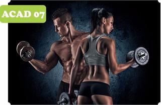 Adesivo Para Academia Fitness Pilates Musculação 40 M²