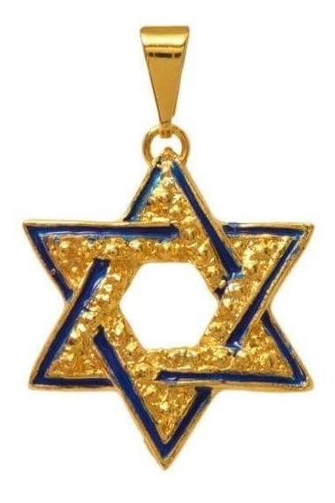 Pingente Estrela De Davi Dourado - Direito De Israel 2
