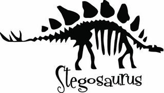 Pegatinas Y Murales De Pared,dinosaurio Del Estegosaurio..
