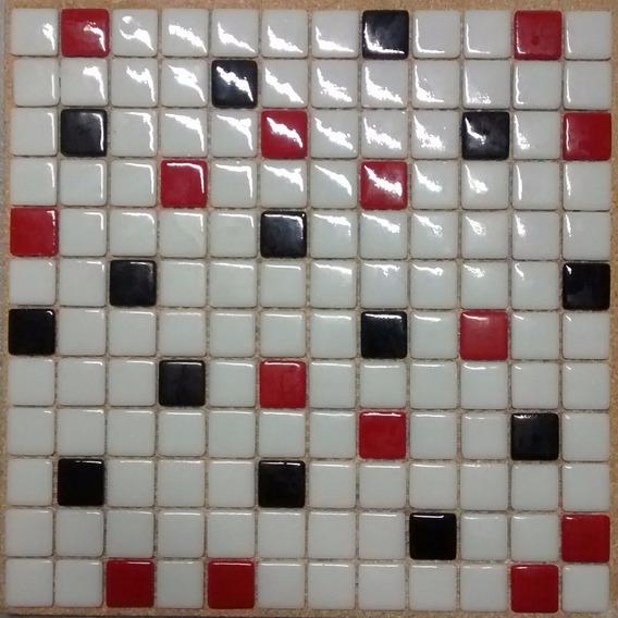 Venecita Mix Blanco/negro/rojo Calidad Premium 2,5x2,5 Xm2