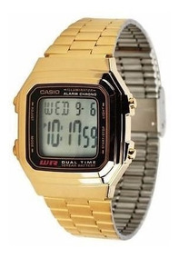 Relógio Casio Retro Vintage A178wga-1adf Dourado 178