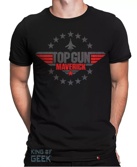 Camiseta Top Gun Marverick Camisa Filme Clássico Anos 80