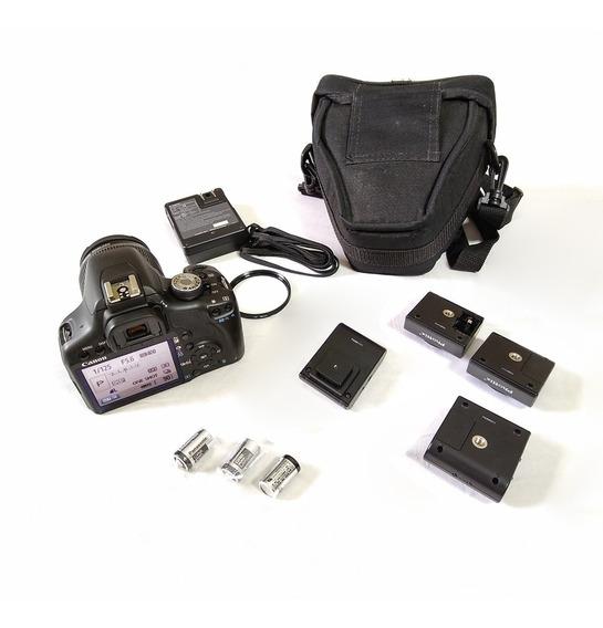 Canon T1i 15mil Clicks + Lente Is + Rádio Flash + Bolsa   Xx