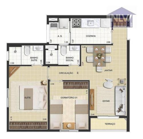 Imagem 1 de 6 de Apartamento Com 2 Dormitórios À Venda, 56 M² Por R$ 368.339,40 - Nova Aliança - Ribeirão Preto/sp - Ap3238