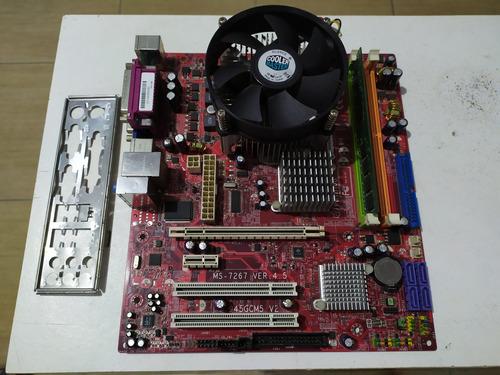 Imagem 1 de 9 de Kit Placa-mãe Positivo Ms7267 Dual-core 2,70ghz 1gb Ram Ddr2