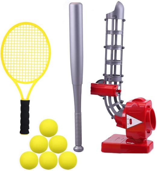Máquina Lanzamiento Pelotas Lanzabolas Béisbol O Tenis Niños