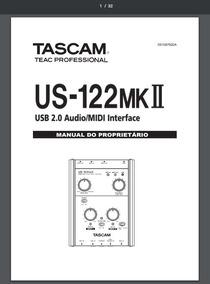Manual Em Português Tascam Us-122 Mk2
