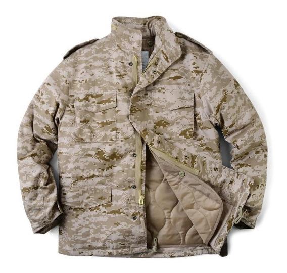 Chamarra Militar Rothco M65 Camuflaje Pixelado Del Desierto