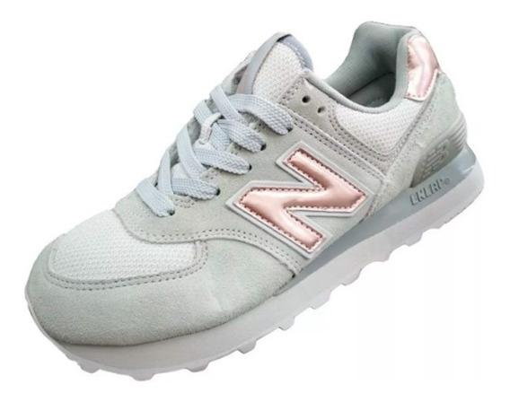 zapatillas new balance mujer urbanas rosas y grises
