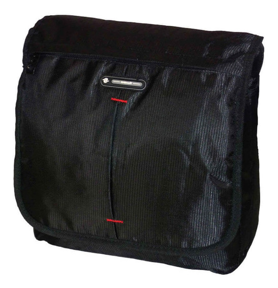 Morral Transit Mod. Arezzo Hombre Mujer Negro Cuotas