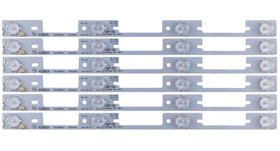 Kit C/6 Barra Led Semp Toshiba 40l2400 40l5400 Dl3944 Dl4045
