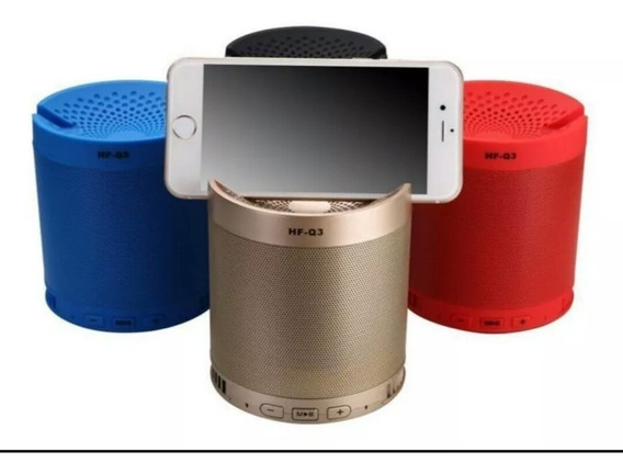 Kit 3 Mini Caixinha Hf-q3 Portátil Bluetooth Usb Mp3 P2 Sd