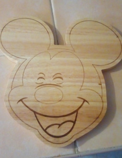 Tabla De Madera Para Picar Disney Mickey Mouse