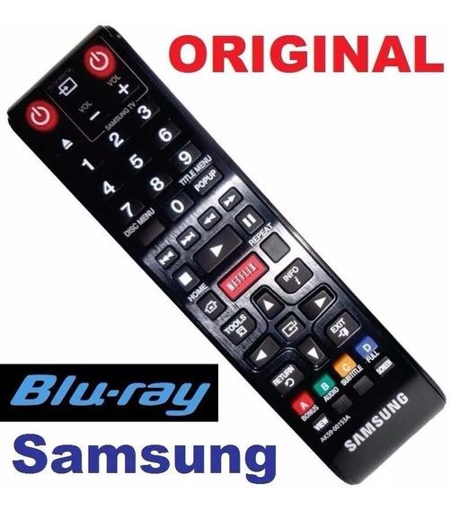 Controle Original Samsung Ak59-00153a Tecla Netflix + Pilhas