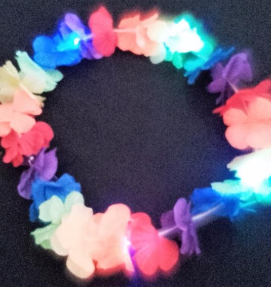Collar Hawaiano Luminoso Cotillón (x12 Unds)