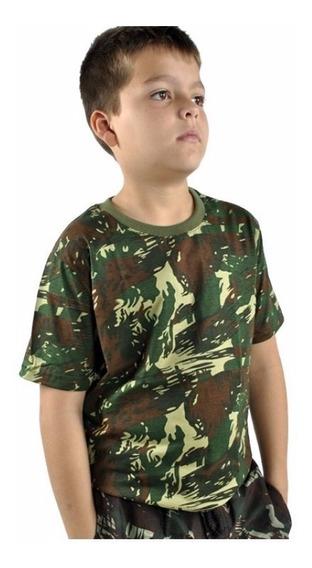Camiseta Infantil Camuflada Especial