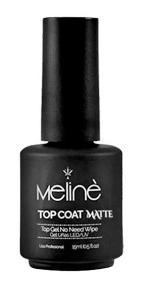 Meline Top Coat Matte Esmalte Semipermanente Gel On Off