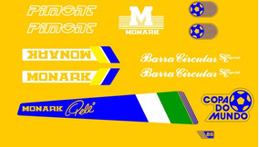 Bicicleta Monark Copa Do Mundo 1986 Decalques À Base D