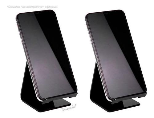 Kit 2 Suportes Para Celular Smartphone iPhone Mesa Universal