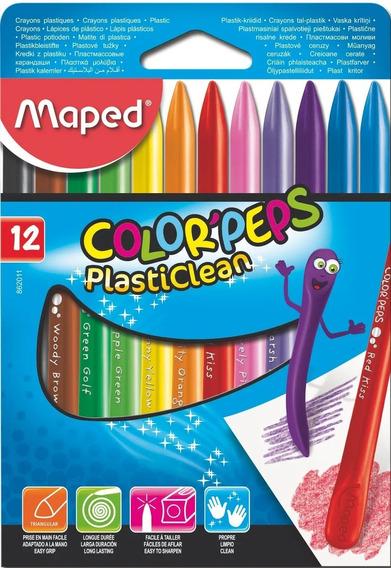 Pinturitas Plasticas X12 Colorpeps Maped 862011 Edu Full
