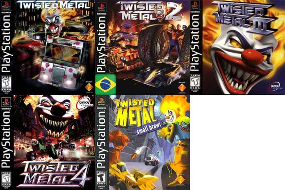 Promoção Coleção 5 Jogos Twisted Metal Ps1 Patch
