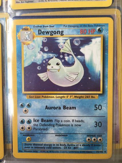 Dewgong Uncommon Unlimited Pokemon Card Original Base Set 25//102
