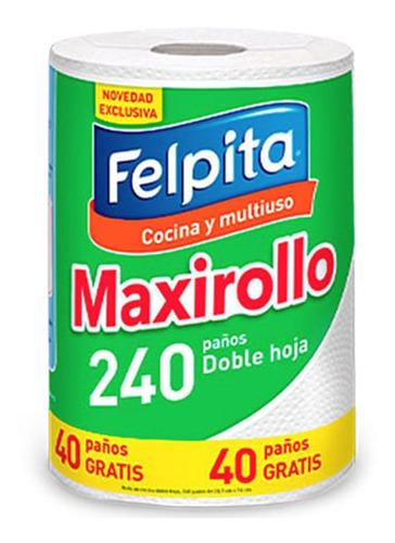Rollo De Cocina Felpita 240 Paños Maxirollo Rollo Multiuso