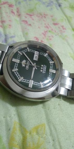 Relógio Orient Automático Antigo Bonito Mostrador Verde Folh