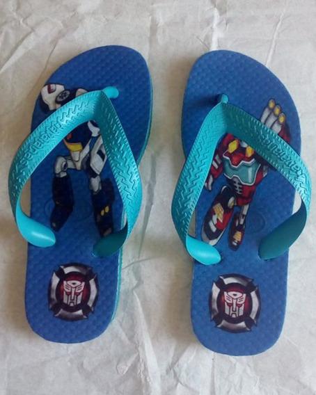 Havaianas Personalizadas Sou Luna,minie,mickey,transformers,homem Aranha,moana,hello Kitt, Frozen,princesas...