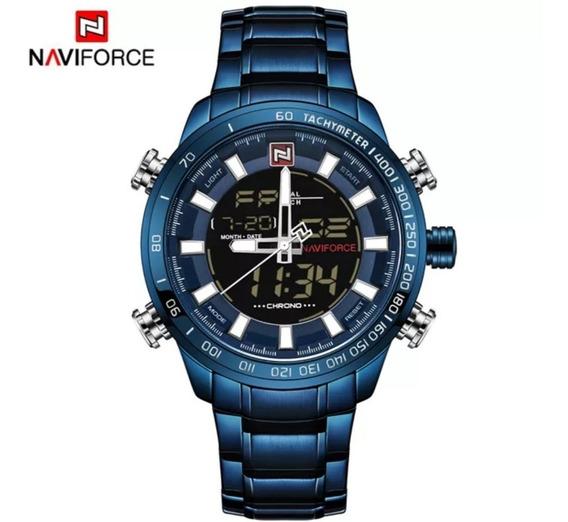 Reloj De Lujo Naviforce Analógico - Digital Para Hombre