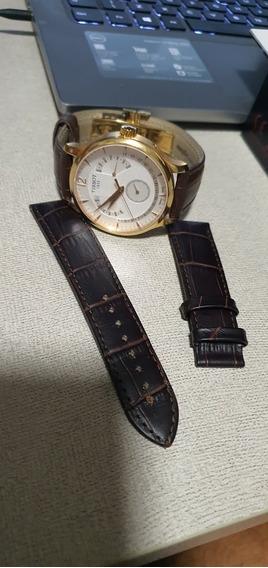 Relógio Tissot Calendário Perpetual Dourado
