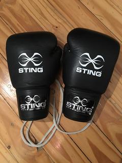 Guantes Profesionales De Boxeo Y Kick Boxing 12 Oz Sting