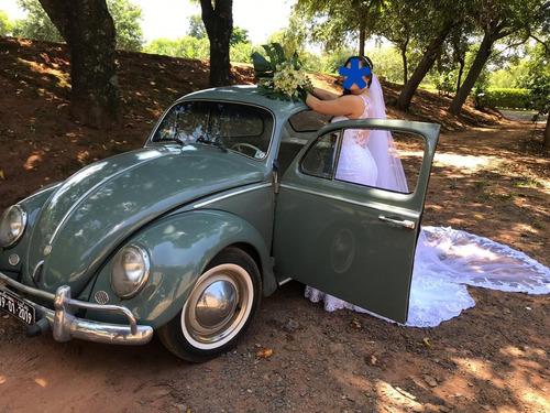 Vw Volkswagen Fusca Alemão 1959 Coleção Placa Preta Original