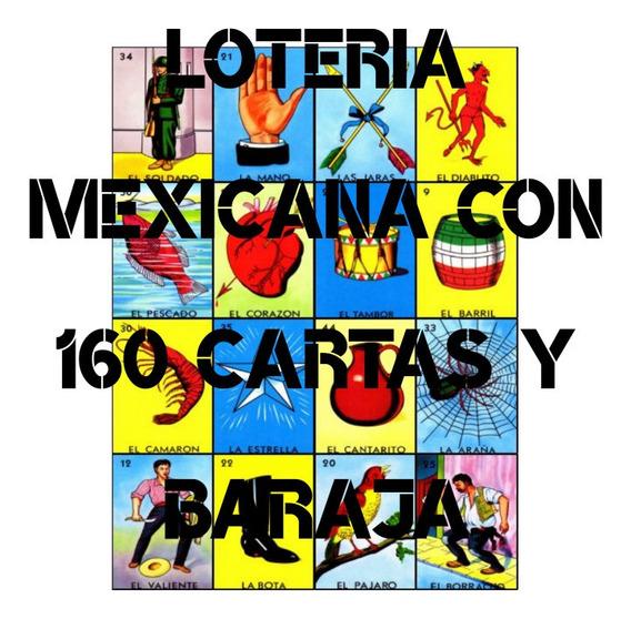 Lotería Mexicana *imprimible* 4x4 O 5x5 160 Cartas C/ Baraja