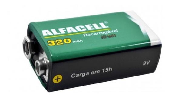 Bateria Recarregável Alfacell 9 V
