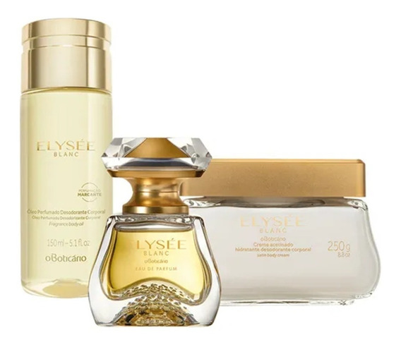 Elysée Blanc Eau De Parfum + Creme Acetinado + Óleo Corporal