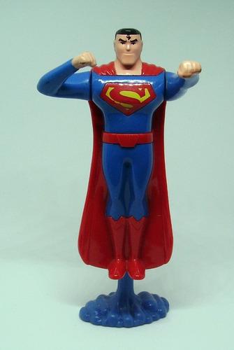 Imagen 1 de 3 de Mueve Brazos Con Pedestal  Superman Plastico 15 Cms Figura