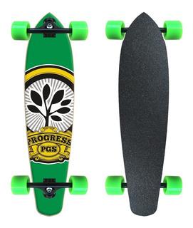 Skate Longboard Barato Completo Pgs Logo Verde