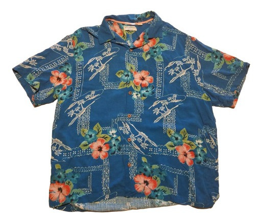 Camisa Hawaiana Caribbean Color Azul De Hombre Talla Xl