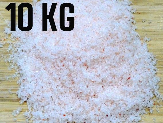 Sal Rosa Do Himalaia Fino Importado Iodado 10 Kg Com Laudo