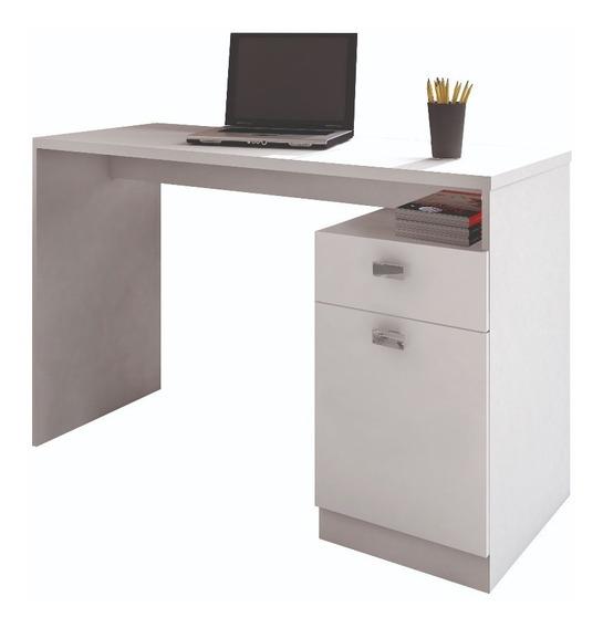 Escrivaninha Mesa Para Computador E Notebook Estudo Branca
